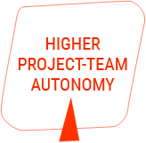 Higher project team autonomy